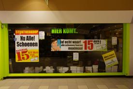 Nieuwe outlet winkel in het Winkelcentrum